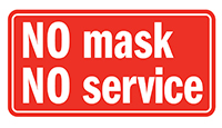 no mask, no service graphic